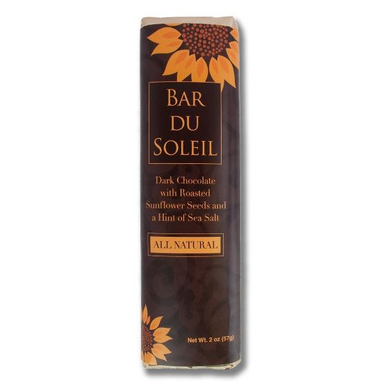 Bar du Soleil - Dark Chocolate candy bar with sunflower seeds & sea salt