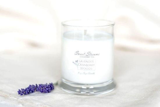 Picture of Sweet Streams Lavender Co Cranberry Woods Candle and Hand Soap Set